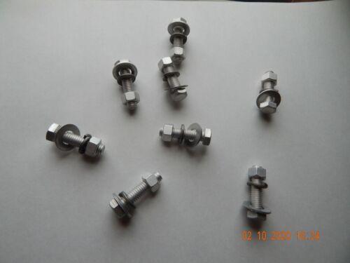 ALUMINUM HEX CAP SCREWS 3//8-16 x 1 3//4 W// LOCK WASHER FLAT WASHER /& NUT 8 PC NEW