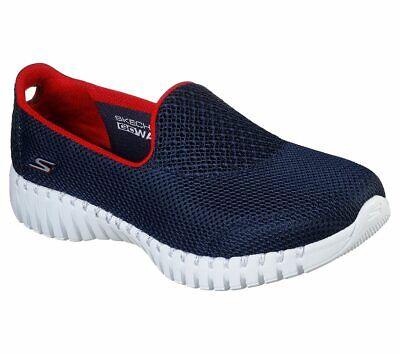 Details zu Skechers Go Walk Smart MarineblauRot Damen Komfort Athletic Wanderschuhe 16708