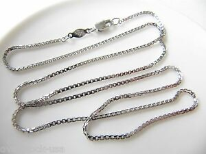 New 175INCH Solid Platinum 950 Necklace Box Link Chain Necklace