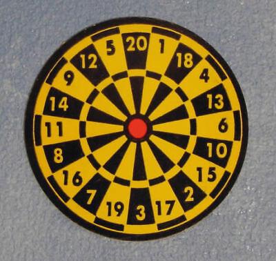 Casa de muñecas en miniatura 1//12th Escala Juguete Dart Board-Cartón D611