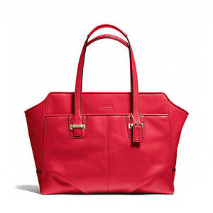 Coach-Bag-F25205-TAYLOR-LEATHER-ALEXIS-CARRYALL-CORAL-RED-Agsbeagle-Sale-COD