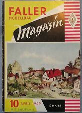 Faller  AMS --  Modellbau Magazin 10 von 1959 !