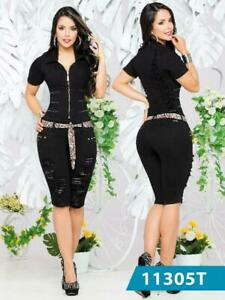 Romper Colombian Jean Buttlift Jumpsuit levantacola Enterizo Mono Push Up 5006VD