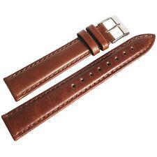17mm deBeer Mens Havana Brown Smooth Leather Watch Band Strap