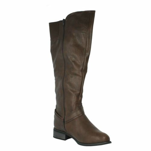 Spot On F5R0161 Ladies Brown Knee High Boots R36A