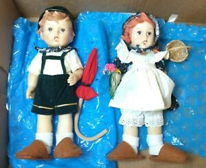 TWO-VINTAGE-GERMAN-HUMMEL-BOY-AND-GIRL-DOLLS-GOEBEL-12-034-034-Reproductions-034