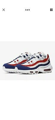 AUTHENTIC NIKE AIR MAX 95 White Gym Red Deep Royal Blue CJ9926 100 Men size