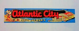Vintage Atlantic City New Jersey Steel Pier Impko Water Decal ~ 60s 70s Tourist Sticker Souvenir New Unused Vacation Travel
