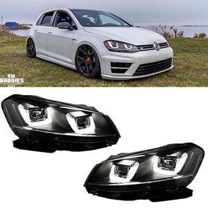 led headlights for 2010 2014 vw volkswagen golf 6 gti mk6 drl golf 7 look drl ebay