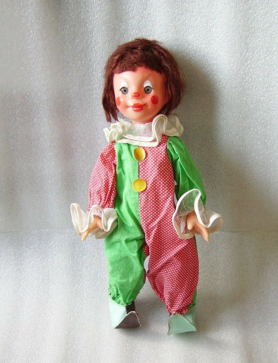 RARE årgång PLASTIC DOLL- CLOWN (65533;65533;65533;, 65533;;; 5533;65533;;), USSR RUSSIA, MARCH 8-th FACTORY, 1970-talet