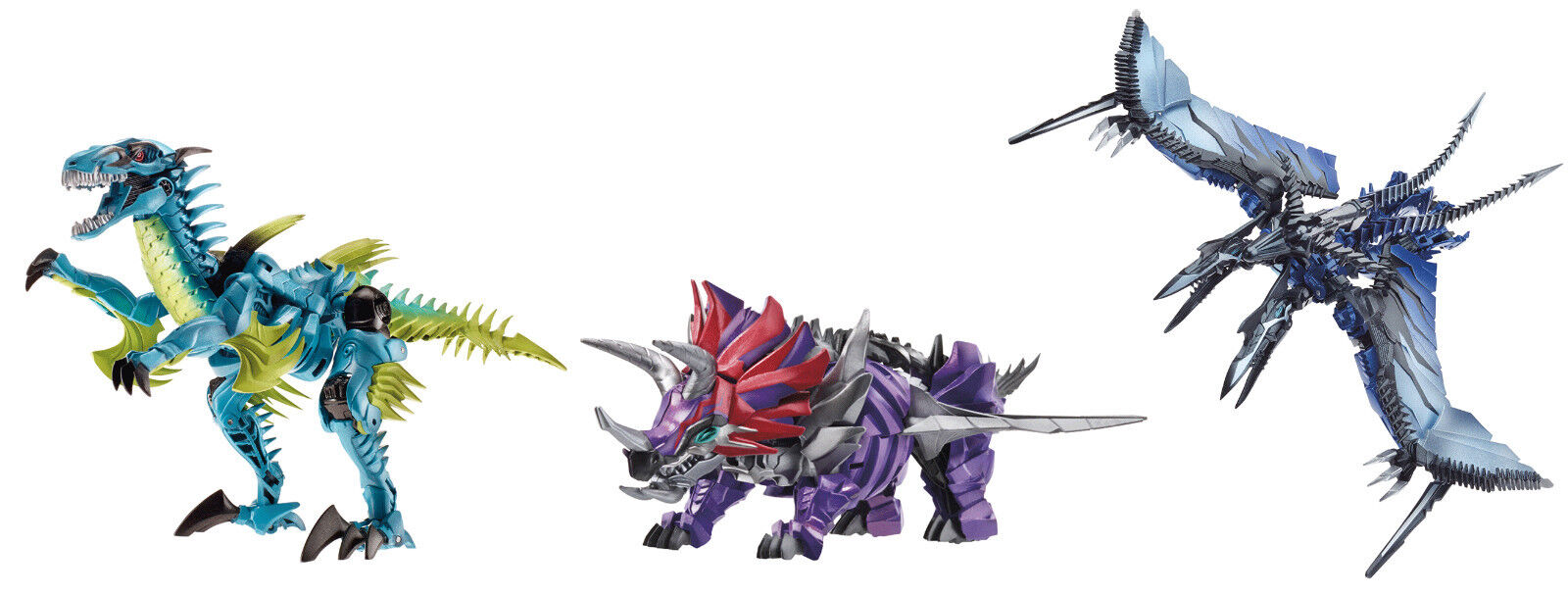 Transformers  age of extinction dinobots slash + strafe + slug action figures new