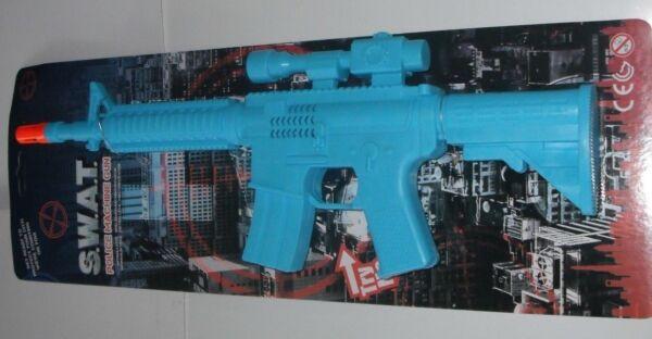 1 X Jouet S.w.a.t. Police Machine Gun Avec Sons. Fancy Dress Nombreux Dans La VariéTé