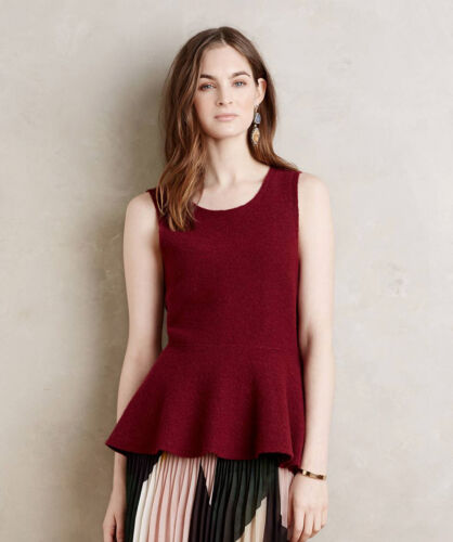 NWT Anthropologie Erla Swing Wool Sweater by Moth sz S Unique and Versatile