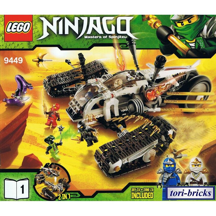 Lego Ninjago Ultraschall Raider mit Bauanleitung, ohne Figuren aus 9449