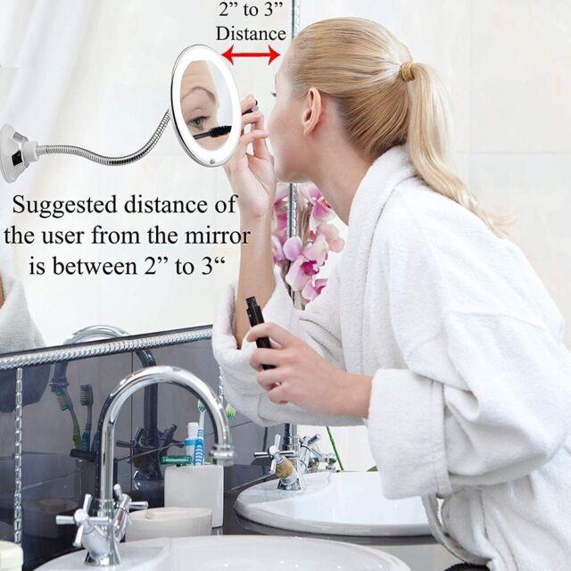 10x Gooseneck Magnifying Makeup Mirror Magnification ...