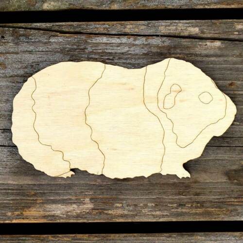 10x Wooden Guinea Pig Craft Shapes 3mm Plywood