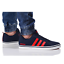 thumbnail 2 - Adidas VS PACE B74317 Navy Red Trainers Shoes Footwear Laces Ankle Collar