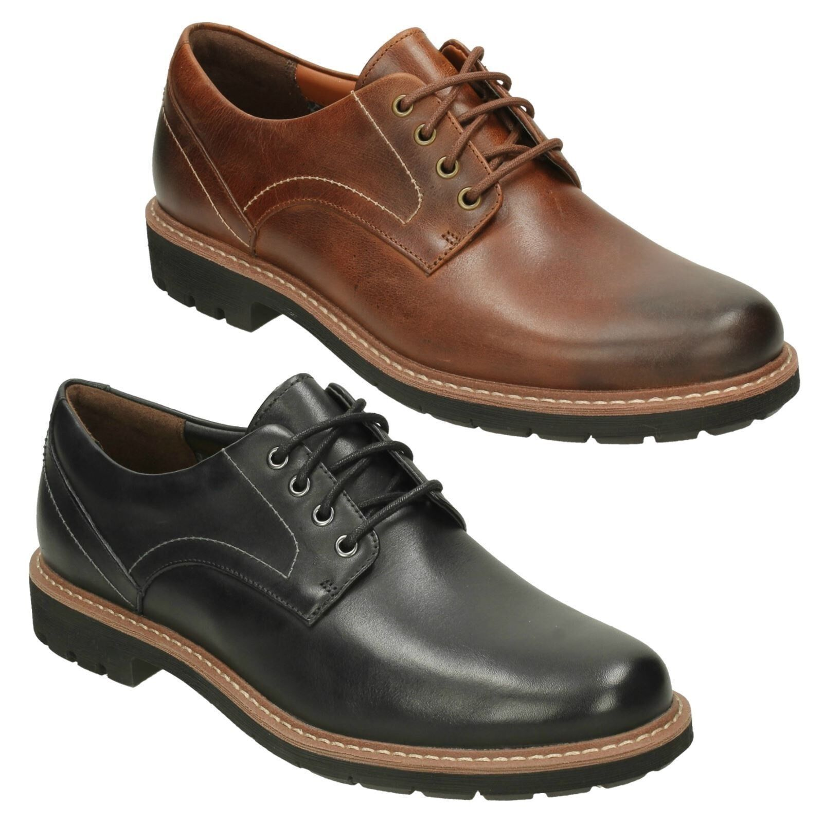 BATCOMBE HALL MENS CLARKS LEATHER CUSHION PLUS FORMAL SMART LACE UP SHOES SIZE