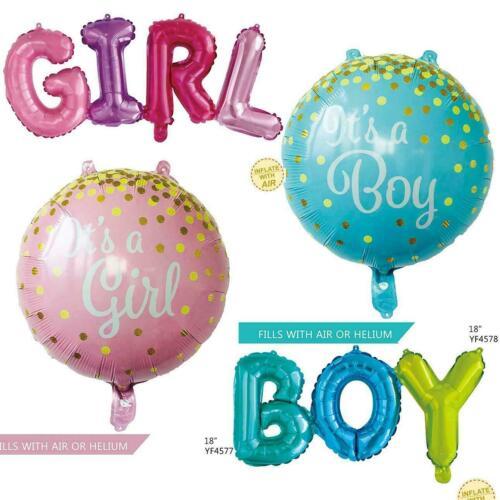 Grand BABY SHOWER BALLONS fille ou garçon Feuille Gender Reveal Fête Décor