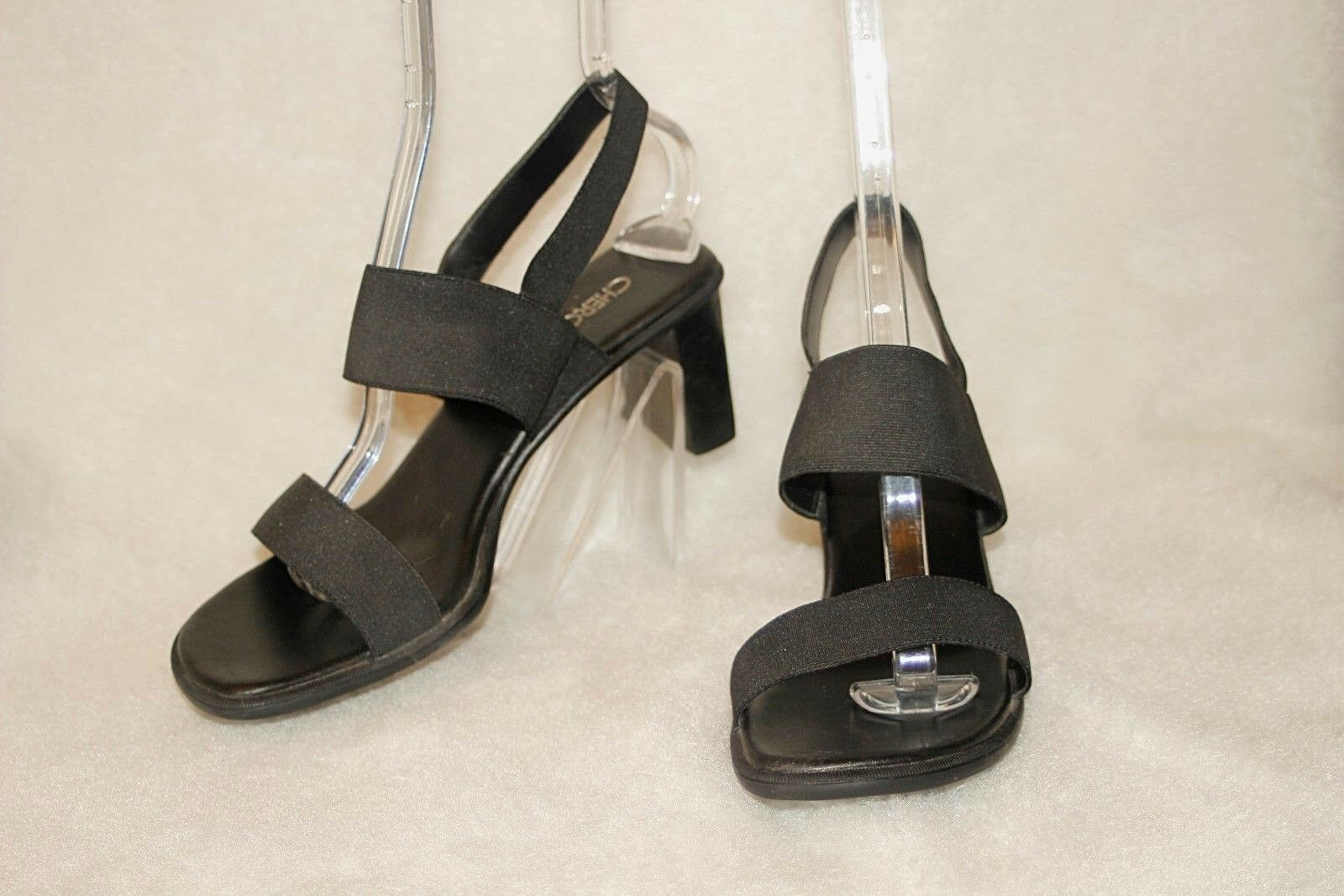 CHEROKEE ~ Black Fabric Comfy Sandals GOOD Sz 8.5 * VERY GOOD Sandals COND. f57141