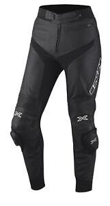Reducido-Ixs-Rouven-Hombre-Pantalones-de-Cuero-Moto-para-Botas-Sport-Racing