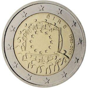 "EU Flag 30 Years/"" 2015 Ireland 2 Euro Uncirculated Coin /""European Union"
