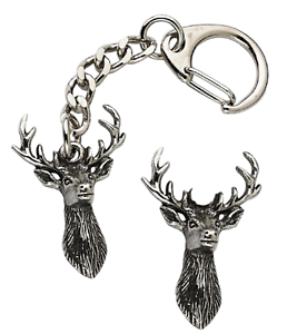 Stag-Head-Key-ring-And-Pin-Badge-Boxed-Gift-Set-Handcrafted-In-Pewter