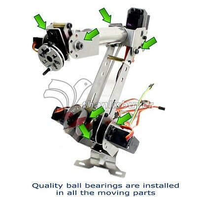 6DOF Metal Mechanical Robotic Arm Frame Kit for Robot Smart Car Arduino SCM DIY