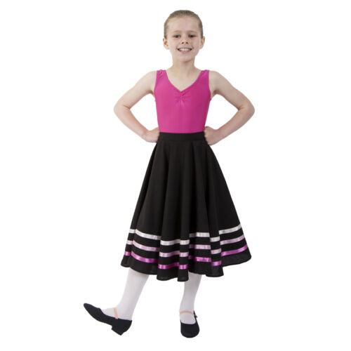 PINK Ballet CHARACTER SKIRT RAD IDTA Style Regulation Dance LILAC BLUE RIBBONS