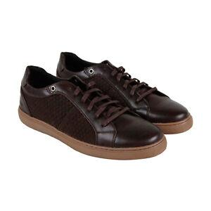 Robert-Wayne-Gregory-RW100199M-Mens-Brown-Leather-Low-Top-Sneakers-Shoes-8-5