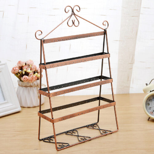 Metal Copper Earring Jewelry Display Large Rack Stand Holder Organizer