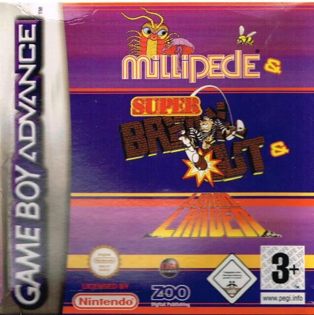 Mille-Pattes + Super Break Out + Lunar Lander - Gameboy Advance