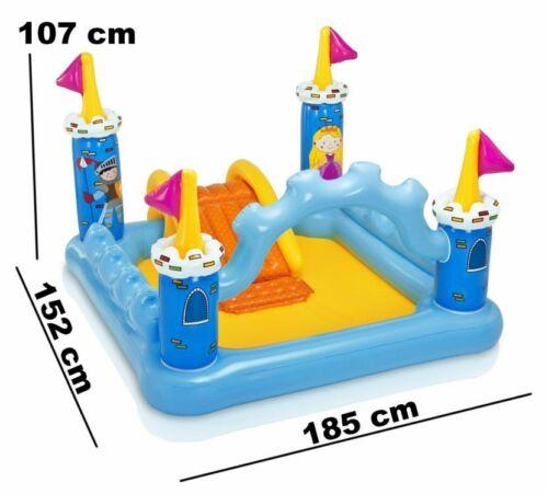 TOP INTEX Wasserspielplatz 57138 SCHLOSS Planschbecken 185x152 x107 cm Pumpe