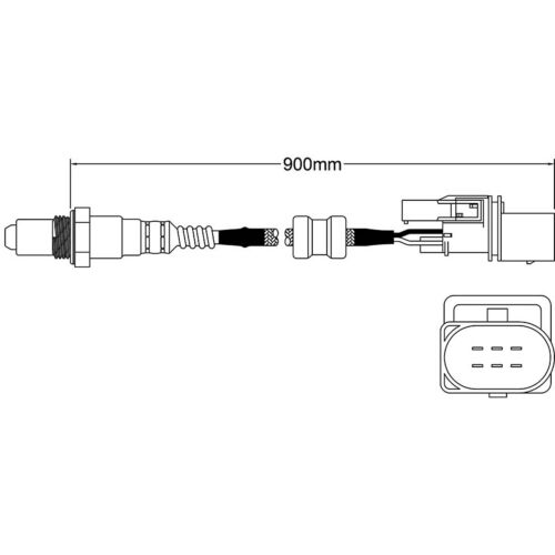 OXYGEN SENSOR MERCEDES C180 C200 W203 PRE-CAT 5 wire C class 1.8