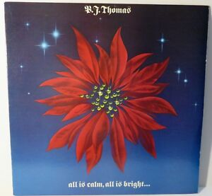"B.J. Thomas : All Is Calm, All Is Bright. 1985 12"" Vinyl / LP PROMO PC-40148"
