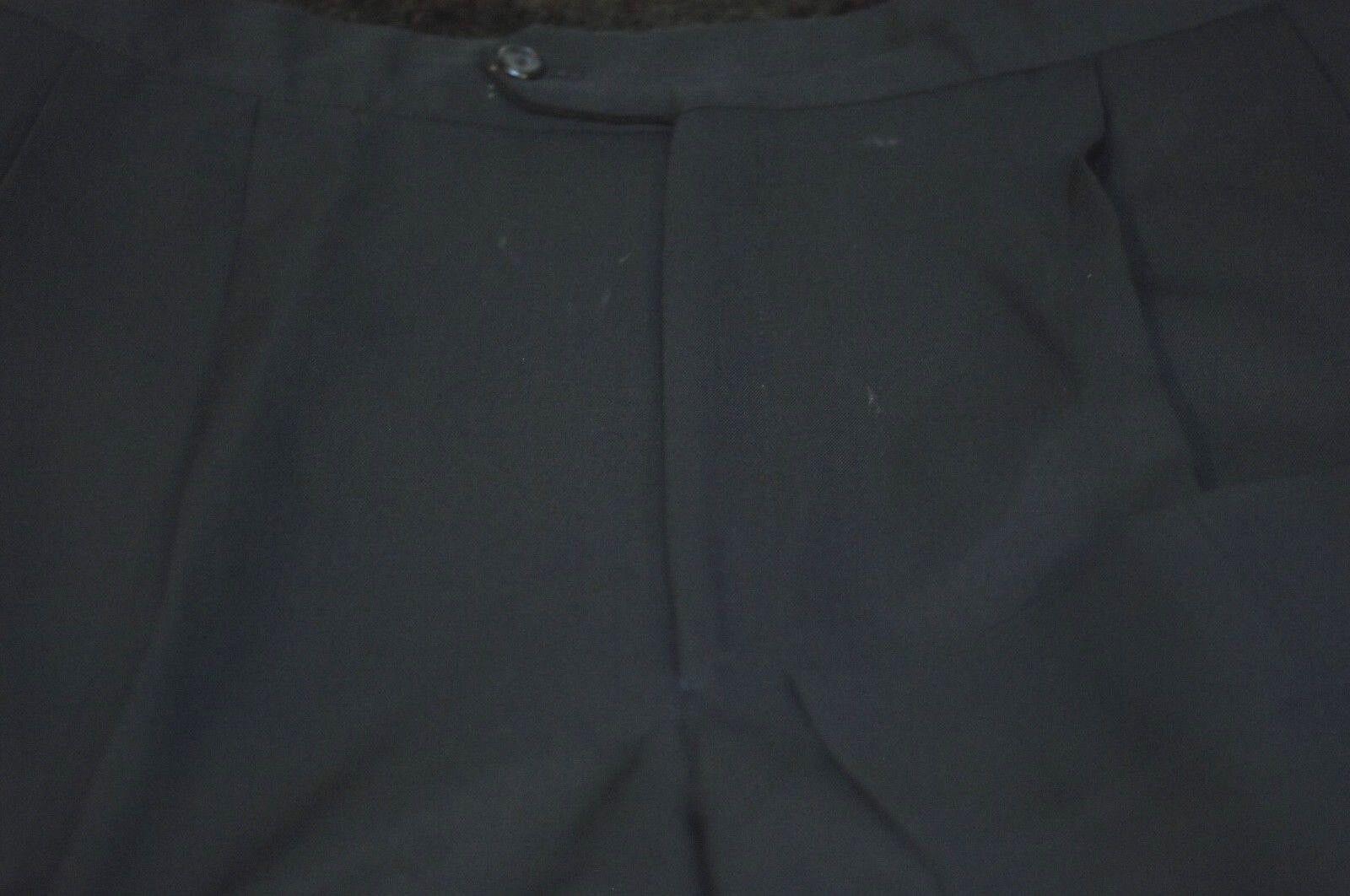 Jos a Riva da men Compatti Lana black Vestito Pieghettato Pantaloni 36 x 28