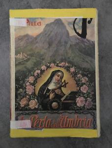 LIBRO LA PERLA DELL'UMBRIA BIOGRAFIA SANTA RITA CASCIA PILLA LA SORGENTE 1939