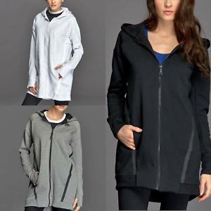 Nike Women s Tech Fleece Mesh Cocoon Jacket Black Grey White Playing ... ad7503f95