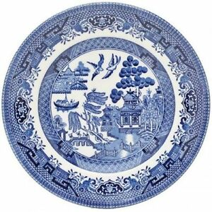 Image Is Loading Dinner Plate 26 Cm Churchill Willow Blue Tableware