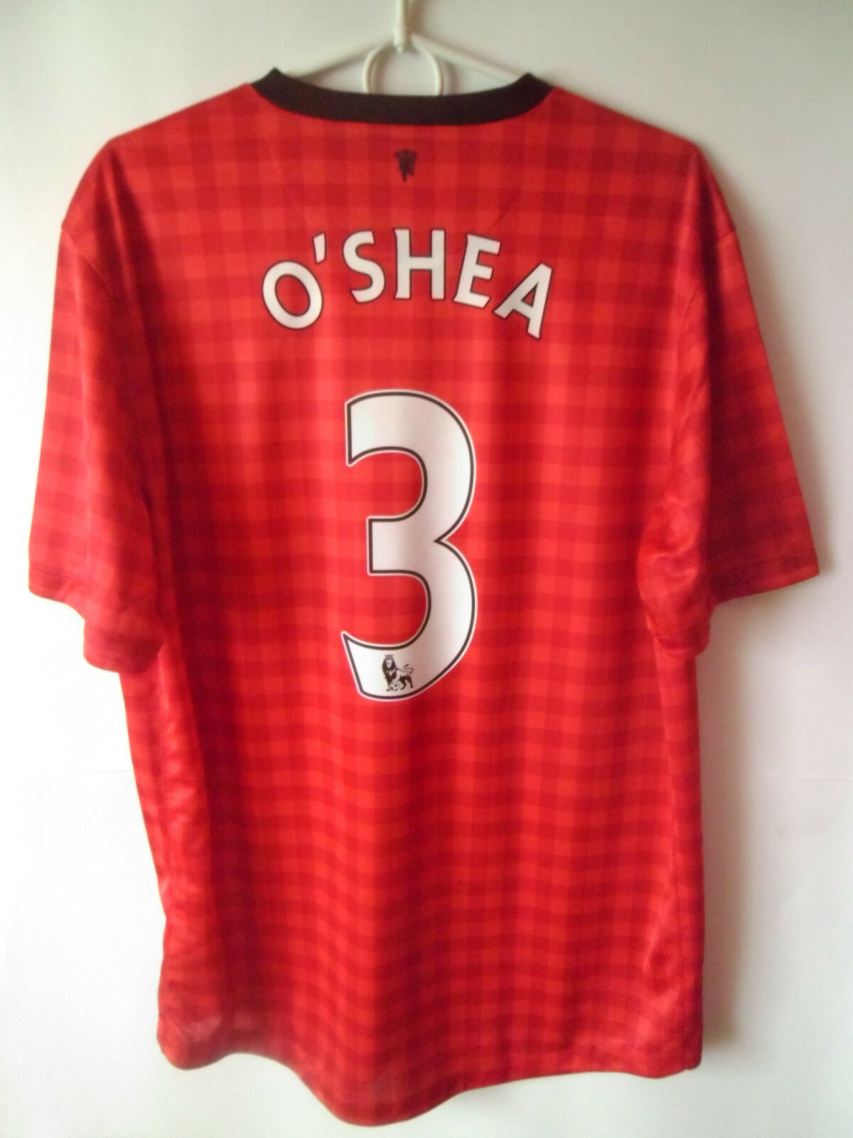 EXCELLENT    O'SHEA     Manchester United Home Shirt Jersey Trikot L