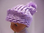 Orchid Knit Baby Hat size 0-3 months Old Fashioned Warm Solf Baby Knit Hat