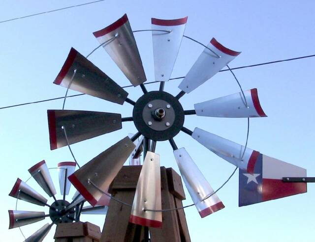 "30"" Windmill Head Kit, Galvanized Steel Blades, Material List DIY 8' Decorative"