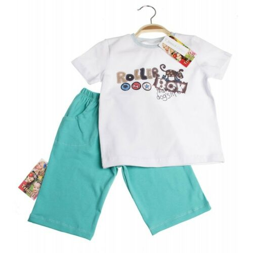 Boys Cotton Short Sleeve T-Shirt and Bermuda Shorts Set Roller Boy Age 3-6 yrs