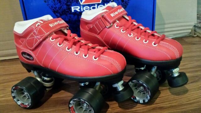NEW Riedell Speed Skates Diablo Roller Derby Skates Size 5 FREE SHIPPING!