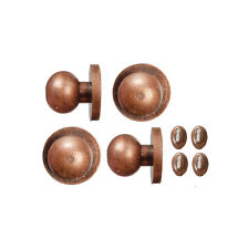 Bronze Door Knobs & Keyholes 4 Pack, Dolls House Miniature 1.12 Scale Accessory