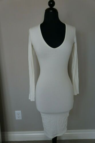 NEW NAKED WARDROBE Bodycon STRETCHY Comfy Long Sleeve Mini Dress Size S