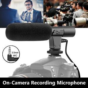 Externe-Interview-Enregistrement-Video-Camera-Microphone-MIC-pour-Nikon-Canon-DSLR-DV
