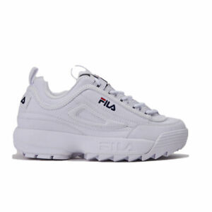 SCARPE-FILA-SNEAKERS-DONNA-DISRUPTOR-LOW-WMN-1010302-1FG-BIANCO-WHITE-ORIGINALE