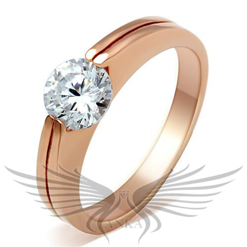 Classy 1ct Cubic Zircon CZ AAA Engagement Ring Rose Gold Size 5 6 7 8 9 10 GL113
