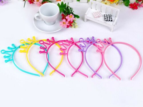 10 Mixed Color Plastic Crown Hair Tiara Princess Headband Hair band With Teeth
